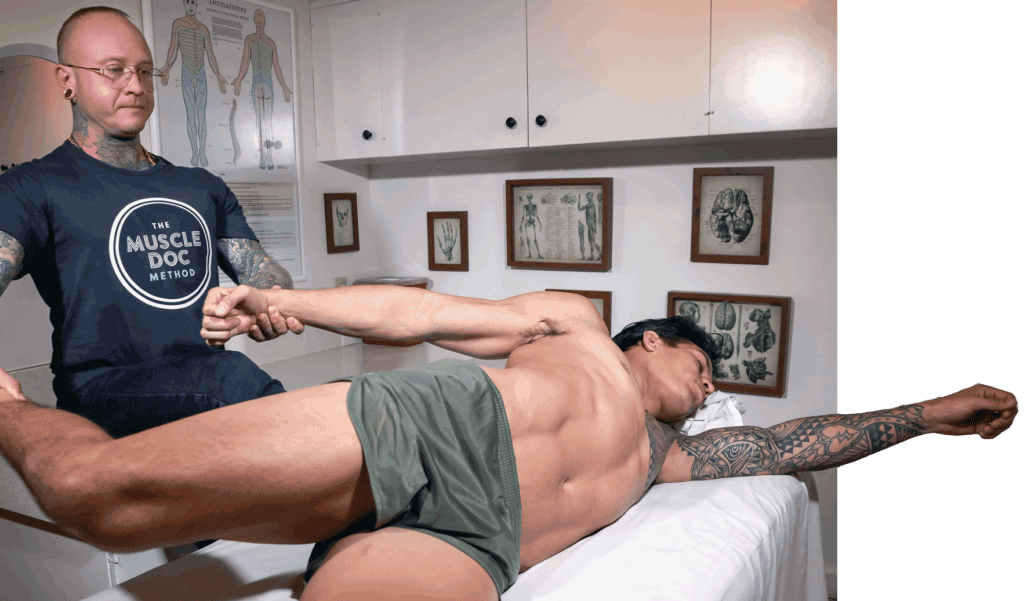 The Muscle Doc Method working on MMA fighter Nick Badis